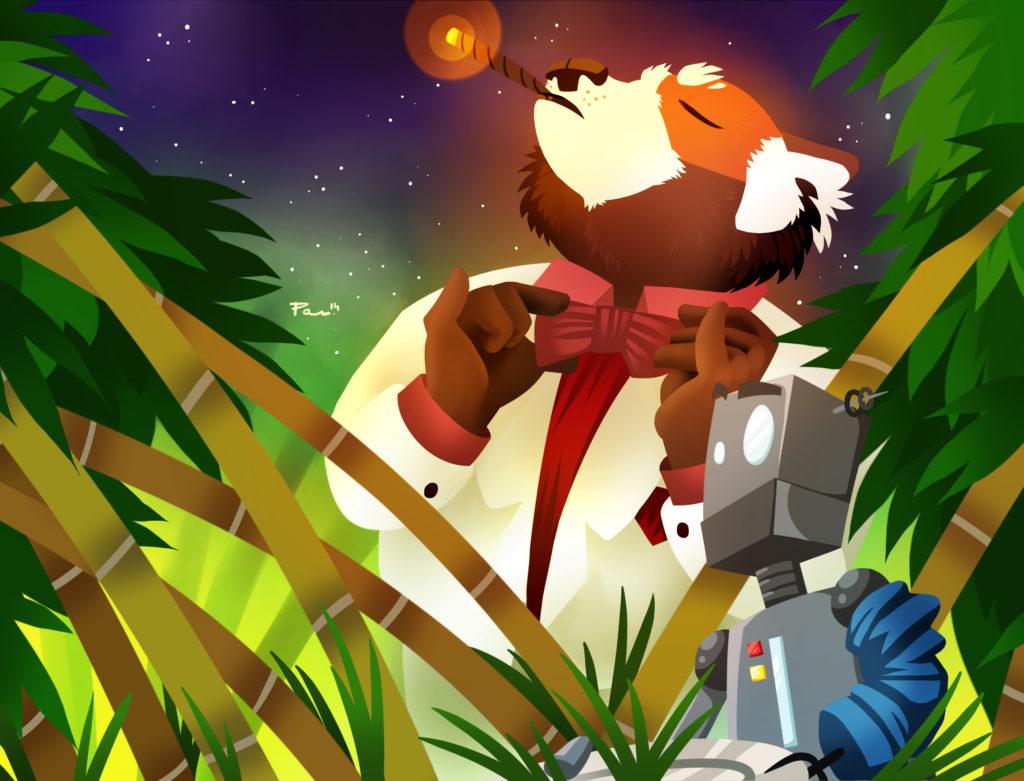 Art for High Orbit Saves The Pandas by B Pavlica