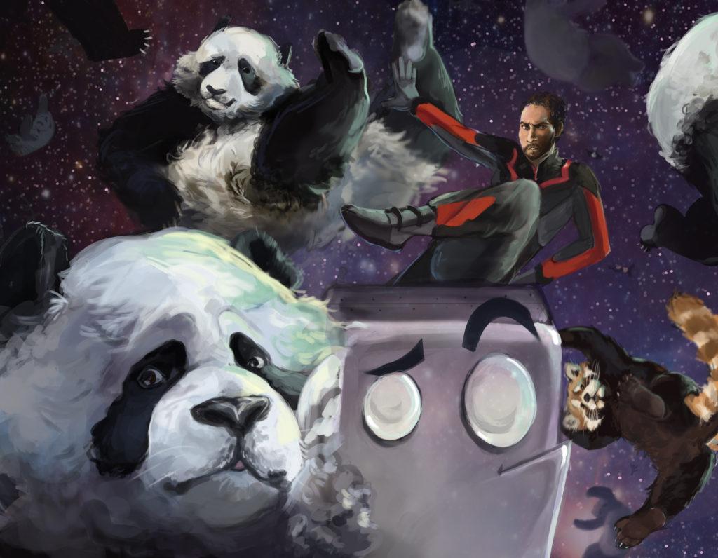 Art for High Orbit Saves The Pandas by Blair Haden